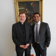 Shahid Khan and Bishop Matthias Heinrich in Berlin, 2013
