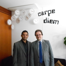 Shahid Khan and Frank Heinrich MP in Berlin, 2013