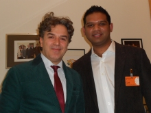 Shahid Khan and Memet Kilic MP in Berlin, 2013