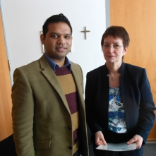 Shahid Khan and Ute Granold MP in Berlin, 2012